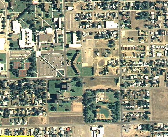 Roosevelt County, NM aerial photography detail