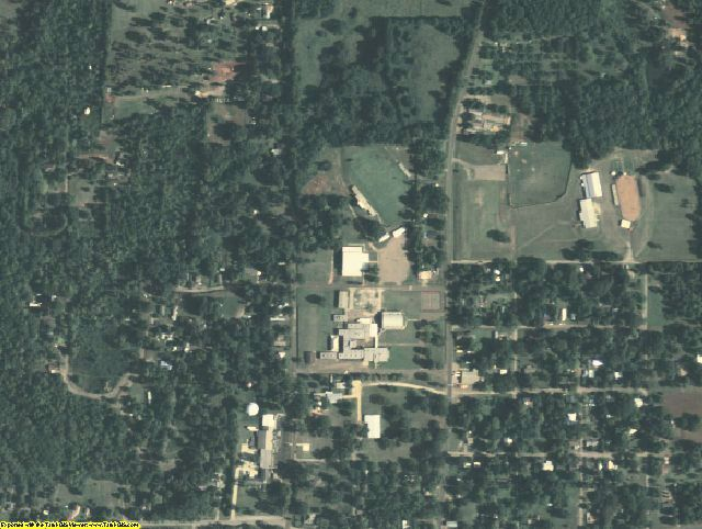 San Augustine County, TX aerial photography detail