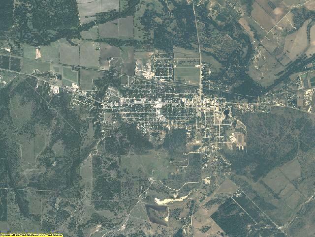 San Saba County, Texas aerial photography
