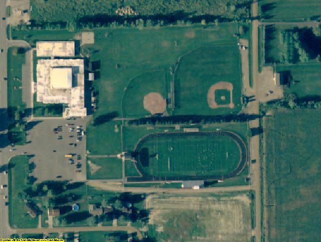 Sanilac County, MI aerial photography detail