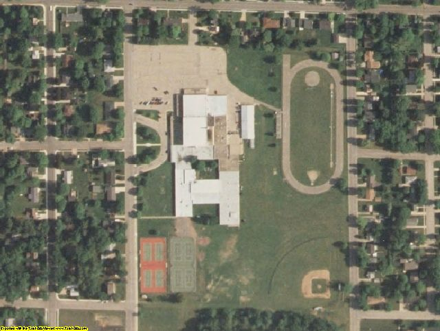 Shawano County, WI aerial photography detail