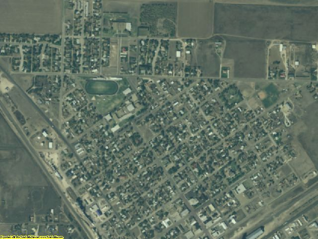 Sherman County, TX aerial photography detail