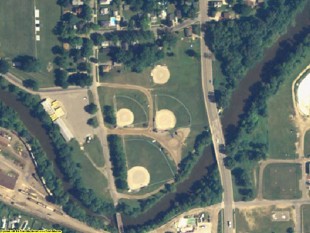 Shiawassee County, MI aerial photography detail