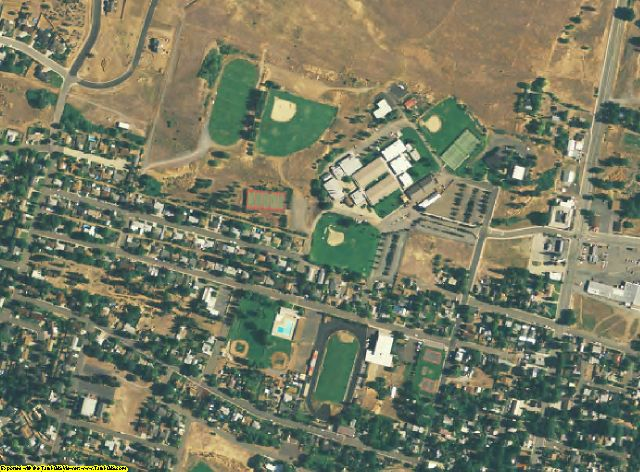 Siskiyou County, CA aerial photography detail