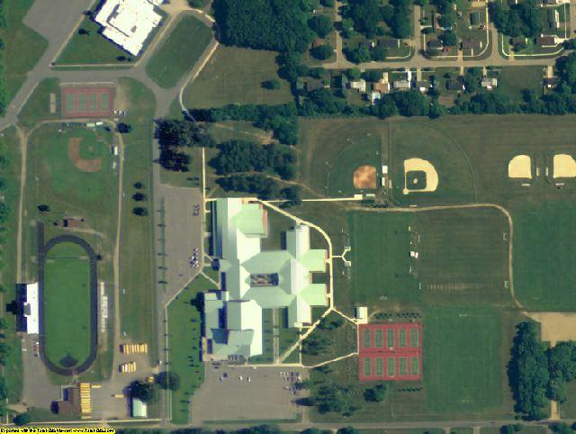 St. Joseph County, MI aerial photography detail