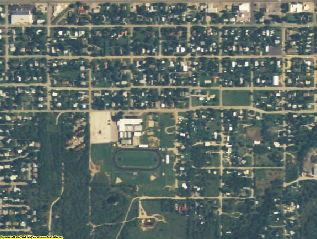 Stephens County, TX aerial photography detail