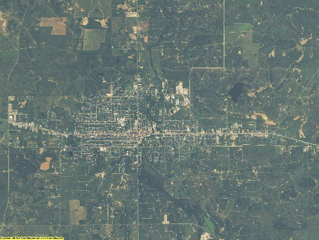 Stephens County, Texas aerial photography