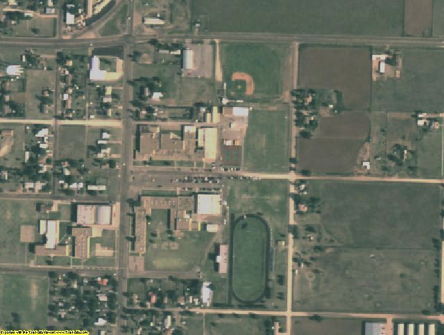Swisher County, TX aerial photography detail