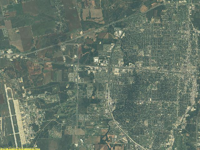 Taylor County, Texas aerial photography