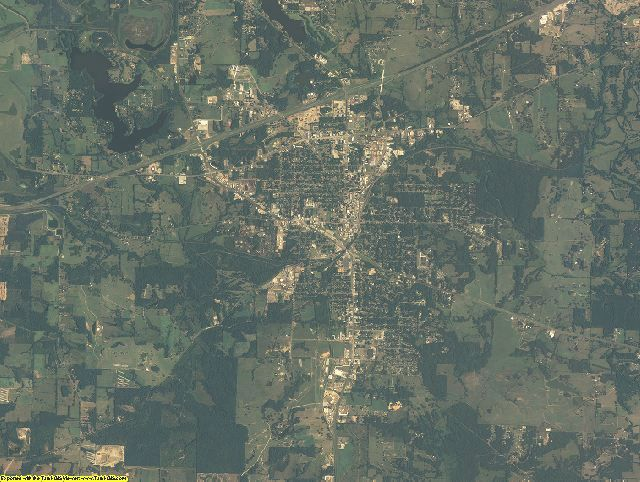 Titus County, Texas aerial photography