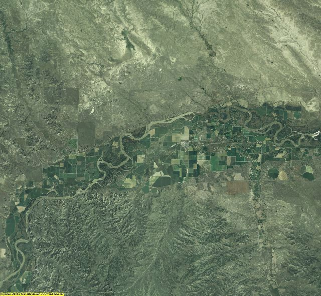 Treasure County, Montana aerial photography