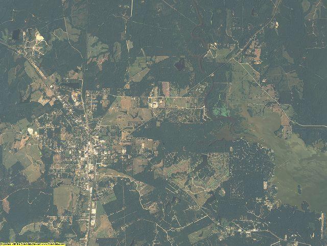 Trinity County, Texas aerial photography