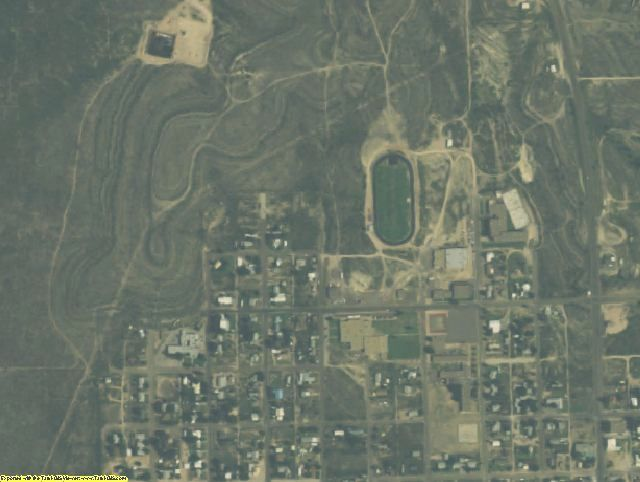 Upton County, TX aerial photography detail