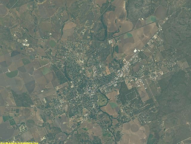 Uvalde County, Texas aerial photography