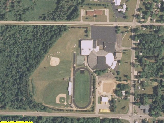 Waushara County, WI aerial photography detail