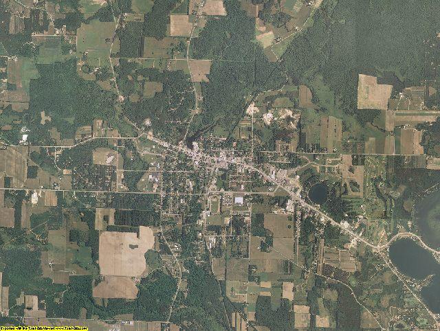 Waushara County, Wisconsin aerial photography