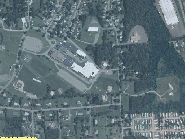 Wayne County, PA aerial photography detail