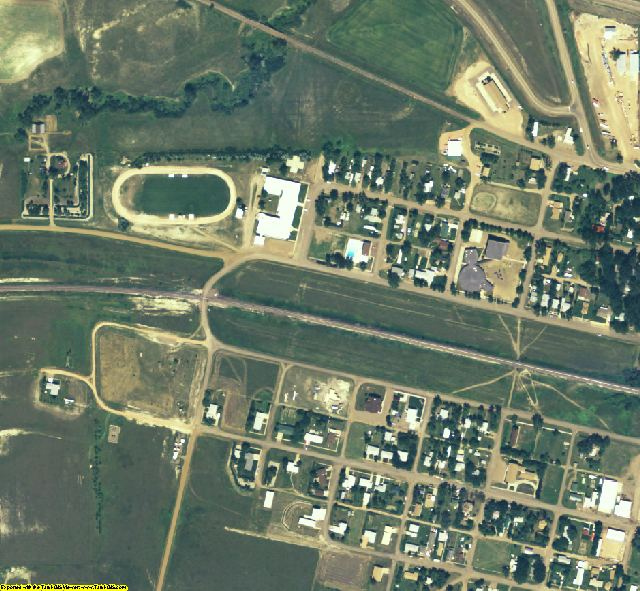 Wibaux County, MT aerial photography detail