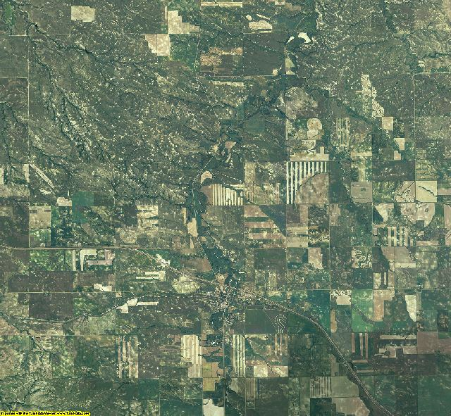 Wibaux County, Montana aerial photography
