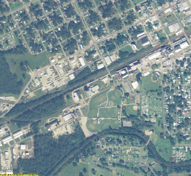 Acadia County, LA aerial photography detail