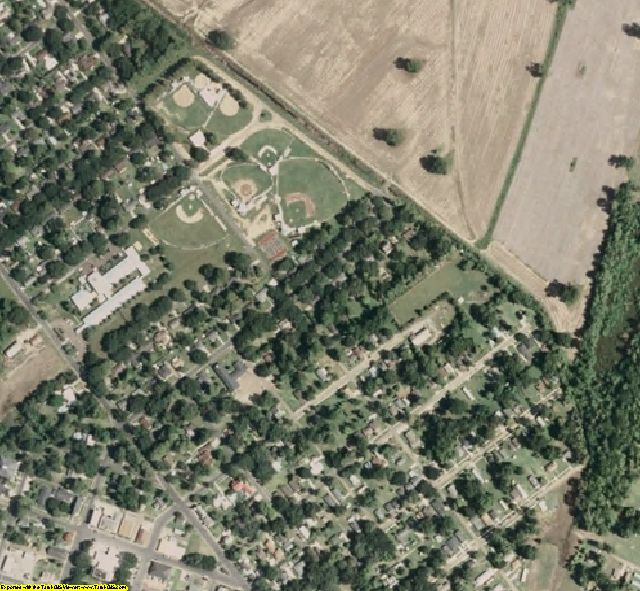 Adams County, MS aerial photography detail
