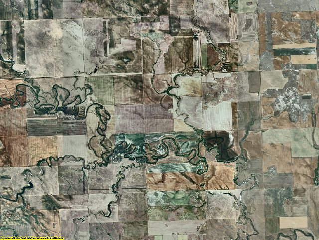 Adams County, North Dakota aerial photography