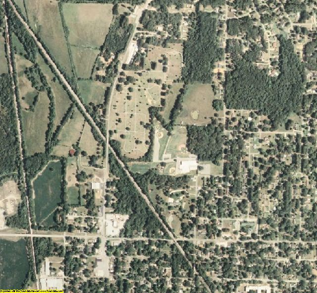 Alcorn County, MS aerial photography detail