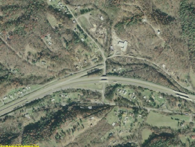 Alleghany County, VA aerial photography detail