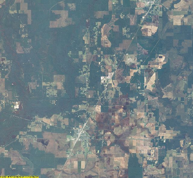 Allen County, Louisiana aerial photography