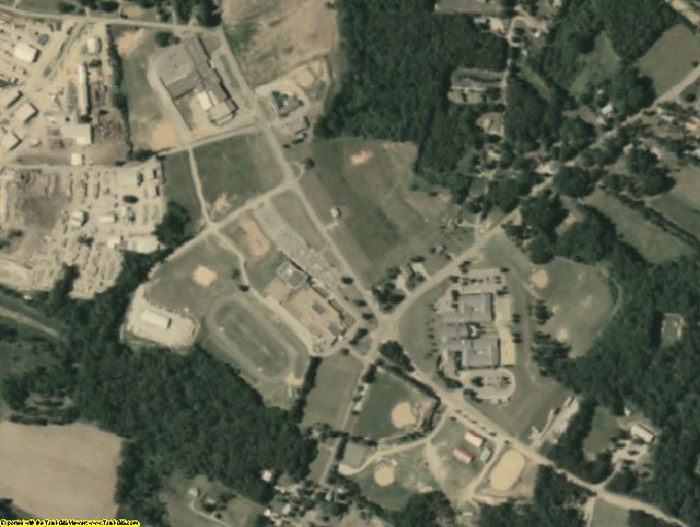 Amelia County, VA aerial photography detail