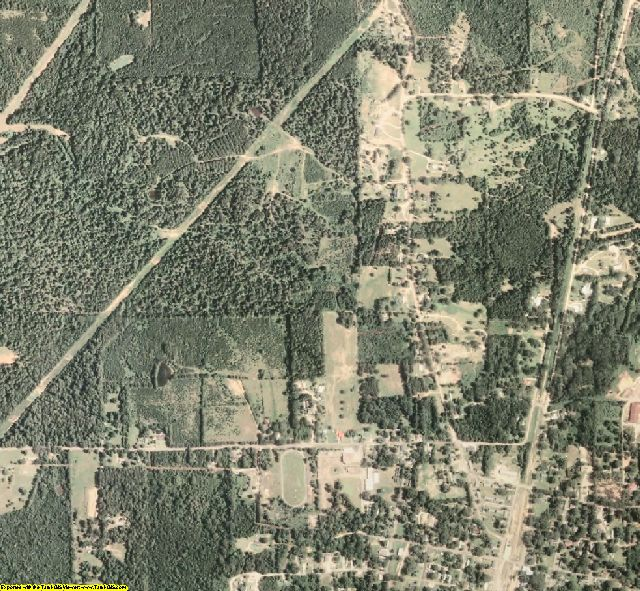 Amite County, MS aerial photography detail