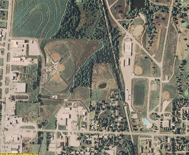 Anderson County, KS aerial photography detail