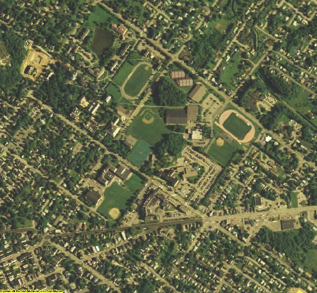 Androscoggin County, ME aerial photography detail