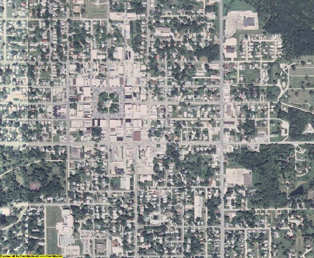 Appanoose County, IA aerial photography detail