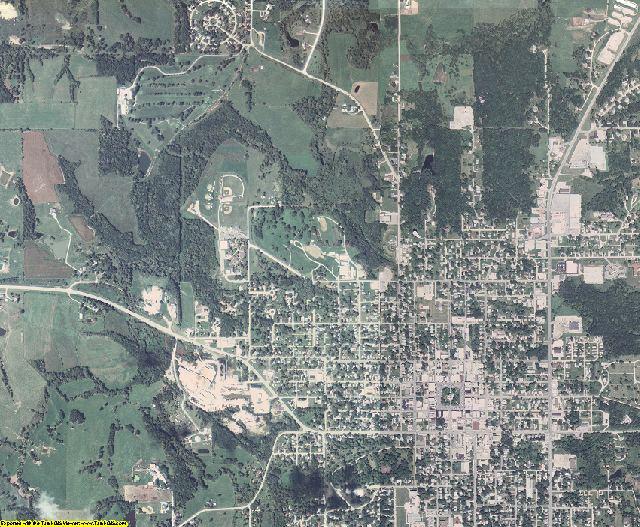 Appanoose County, Iowa aerial photography