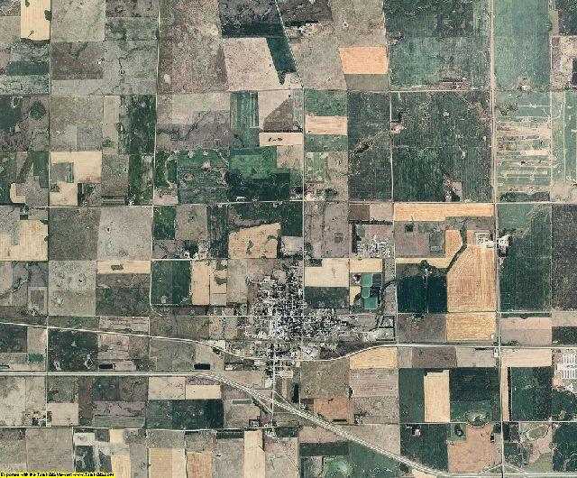 Aurora County, South Dakota aerial photography