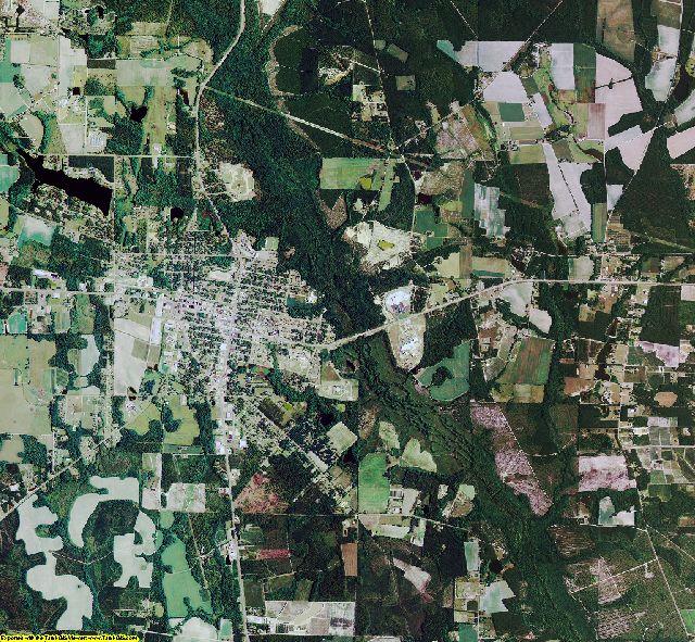 Bacon County, Georgia aerial photography