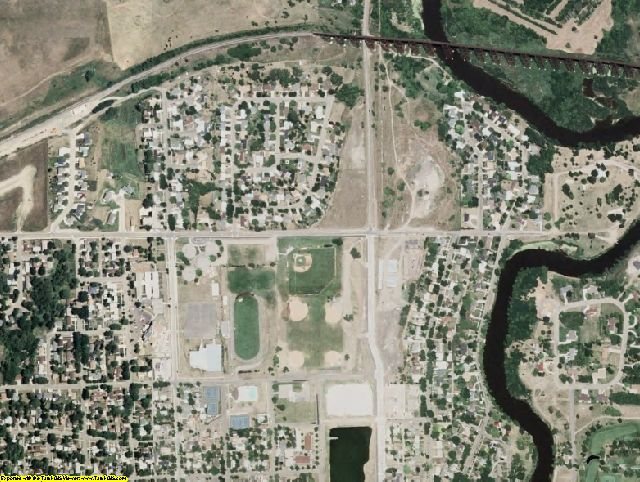 Barnes County, ND aerial photography detail