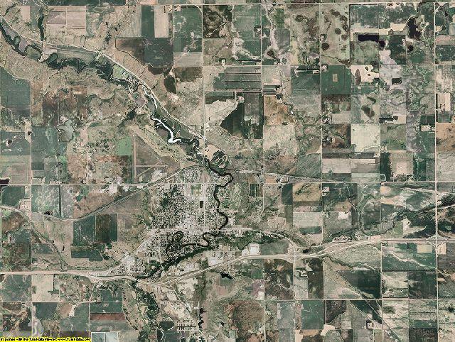 Barnes County, North Dakota aerial photography