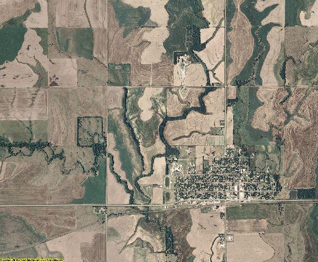 Barton County, Kansas aerial photography