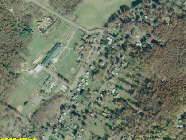 Bath County, VA aerial photography detail