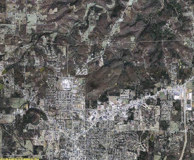 Baxter County, Arkansas aerial photography