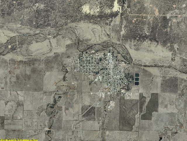 Beaver County, Oklahoma aerial photography