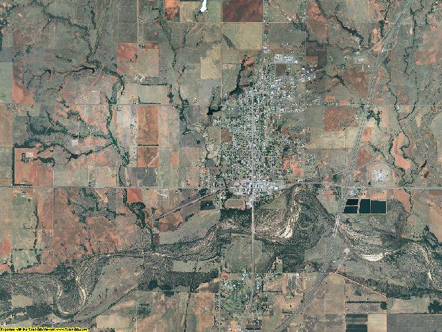 Beckham County, Oklahoma aerial photography