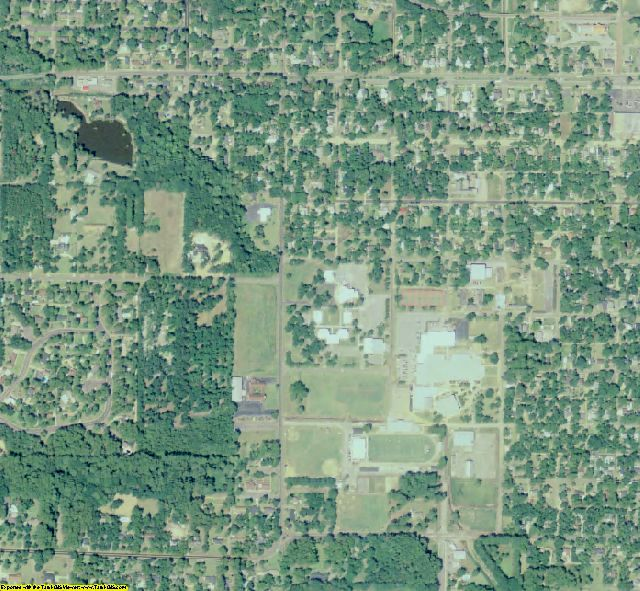Ben Hill County, GA aerial photography detail