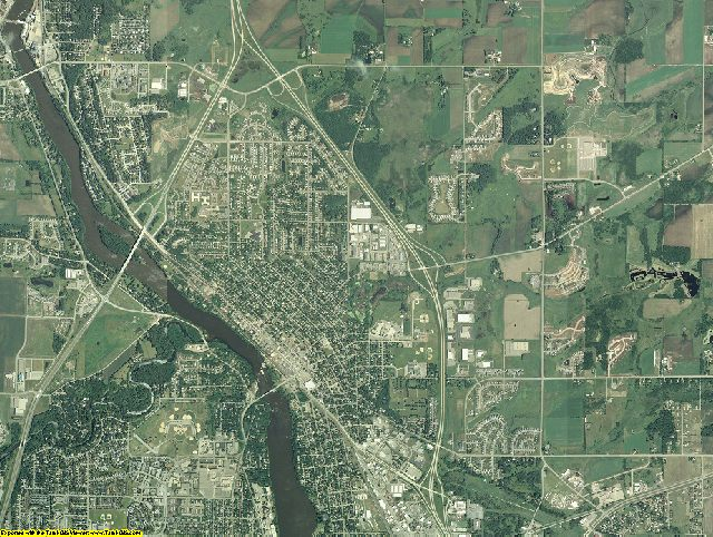 Benton County, Minnesota aerial photography