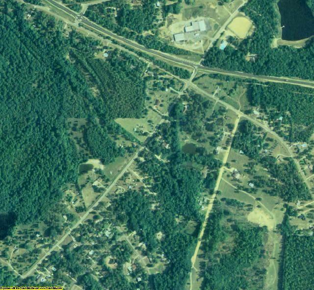 Bibb County, GA aerial photography detail
