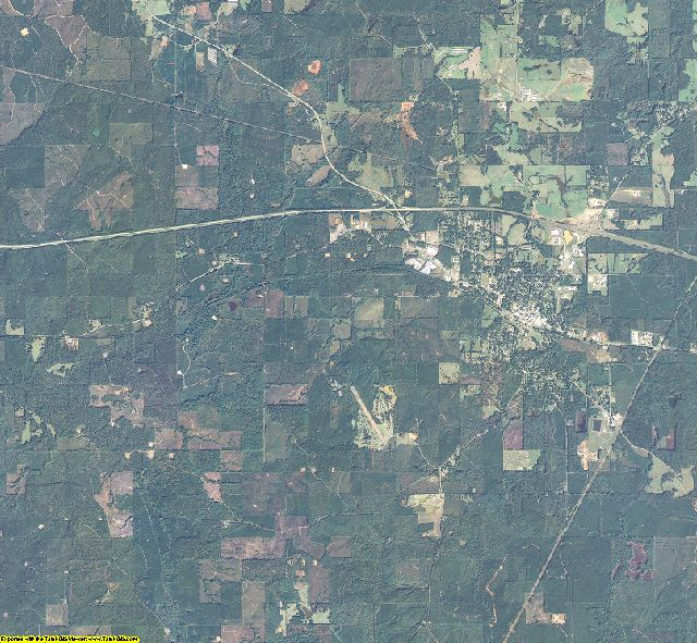 Bienville County, Louisiana aerial photography