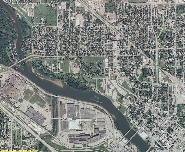 Black Hawk County, Iowa aerial photography