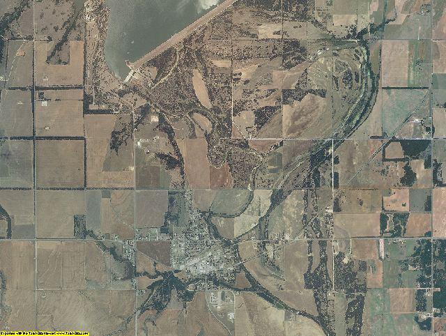 Blaine County, Oklahoma aerial photography